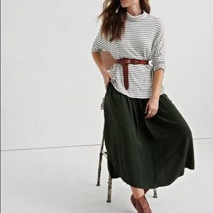 Lucky Brand | Cloud Jersey Stripe Cowl Neck